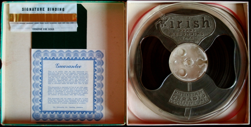 Irish Recording Tape Reel